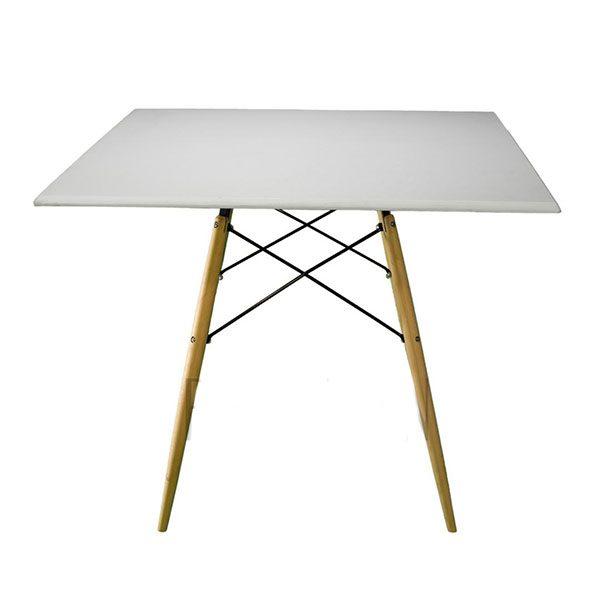 میز کد TM500 پایه چوبی وکیوم ابعاد 80*80 mdf