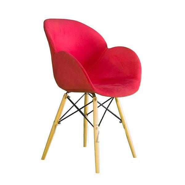 صندلی صدف کد S500p پایه چوبی ثابت با روکش پارچه