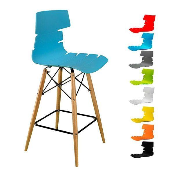 صندلی مرجان کد M600 اپنی پایه بلند چوبی